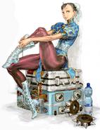 Chun-Li Kinu Nishimura SFIV pose suitcases