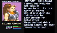 Lieutenant Linn Kurosawa Profile