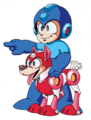 MM3 Mega Man and Rush