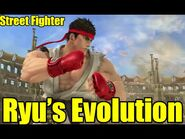 Evolution of Ryu's Special Moves in Street Fighter and SOME Spin off Games (Smash, Tekken, and more)