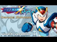 Mega Man X DiVE - First Armor X Showcase- Gameplay, Skills, & 3D Model