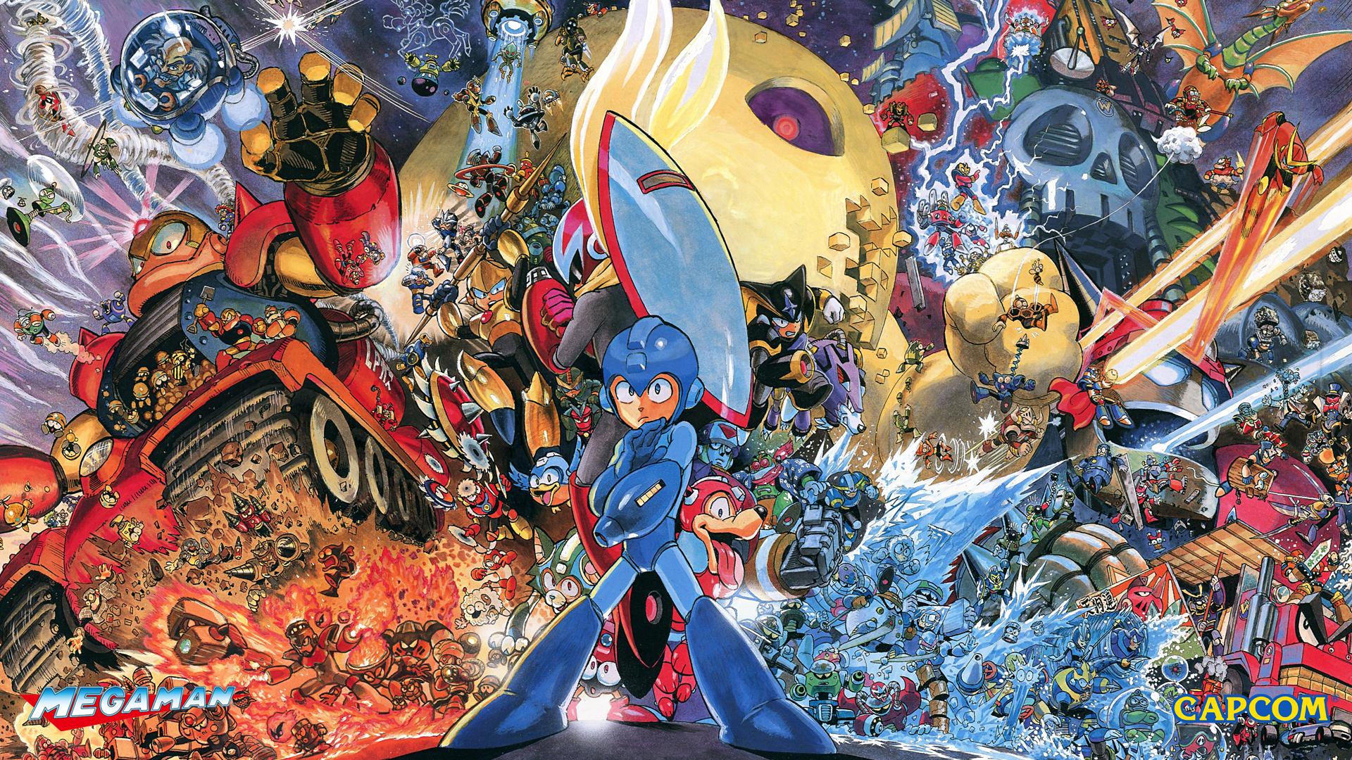 MM Heroes Of Capcom Wallpaper.png