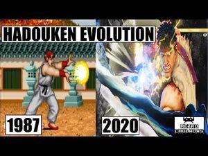 Hadouken Evolution - Ryu Evolution - Street Fighter (1987 - 2020) 💨💥 Hadoken de Ryu Evolucion