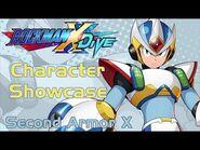 Mega Man X DiVE - Second Armor X Showcase- Gameplay, Skills, Art, & 3D Model