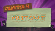 Chapter 4; No, It Can't