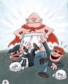 Bank Robbers make fun of Captain Underpants