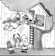 Captain Blunderpants Evil boys Harold and George catch thier good counterparts in the act of a plan.
