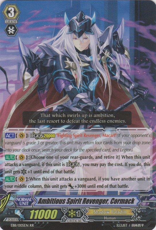 Ambitious Spirit Revenger, Cormack