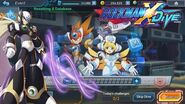 Mega Man X DiVE - Acquiring Black Zero & Event DiVE Mode Gameplay