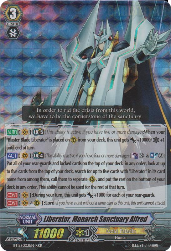 Card Errata:Liberator, Monarch Sanctuary Alfred