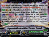 Sage-saint Mentor of Black Lacquer, Isabelle