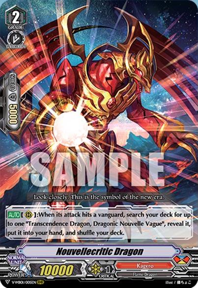 Vanguard Nouvellecritic Dragon V-MB01//005 RRR ENGLISH Cardfight!