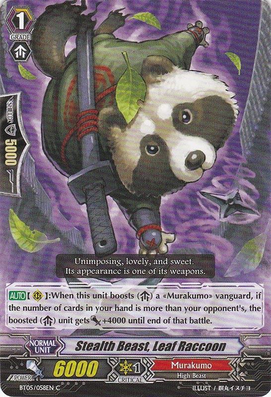 Stealth Beast, Leaf Raccoon