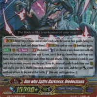 Cardfight vanguard One Who Splits Darkness BLEDERMAUS G-BT11//009EN RRR