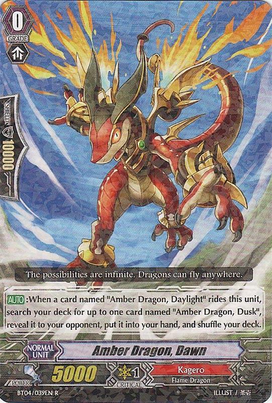 Amber Dragon, Dawn