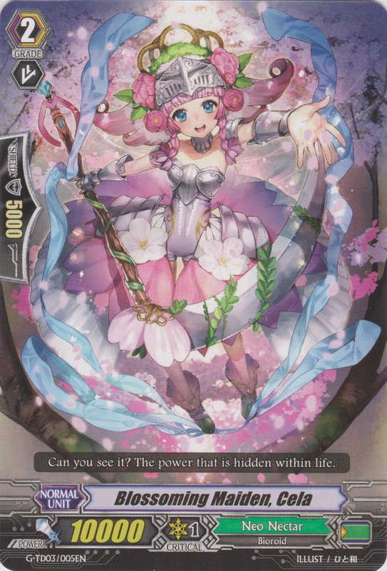 Blossoming Maiden, Cela