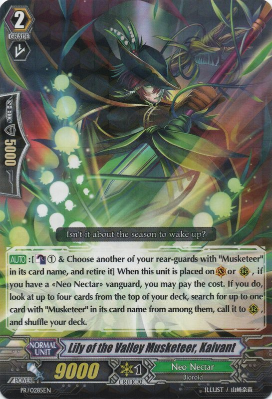 Lily of the Valley Musketeer, Kaivant