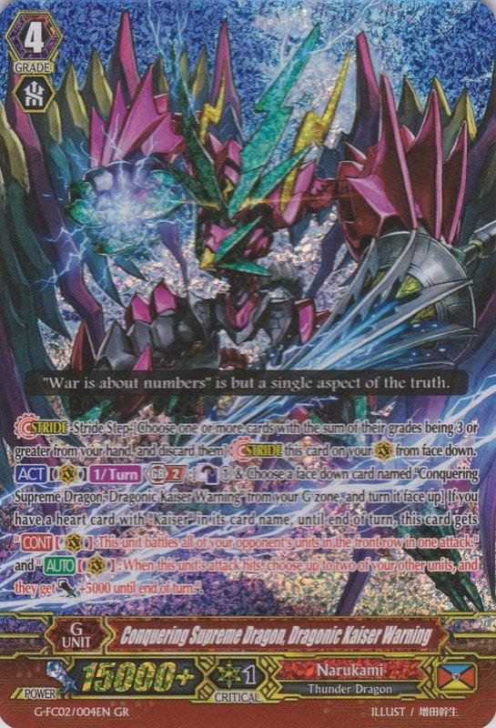 Conquering Supreme Dragon, Dragonic Kaiser Warning