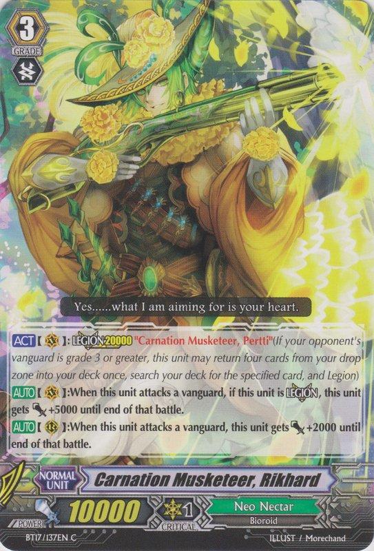 Carnation Musketeer, Rikhard