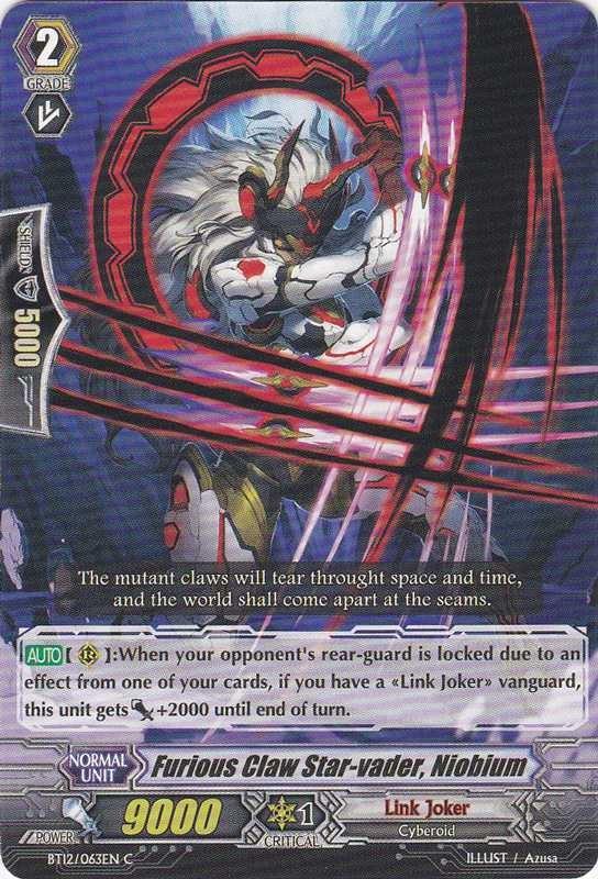 Card Errata:Furious Claw Star-vader, Niobium