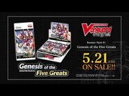 CARDFIGHT!! VANGUARD overDress Booster Pack 01- Genesis of the Five Greats