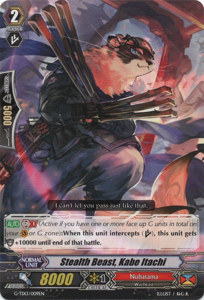 Stealth Beast, Kabe Itachi