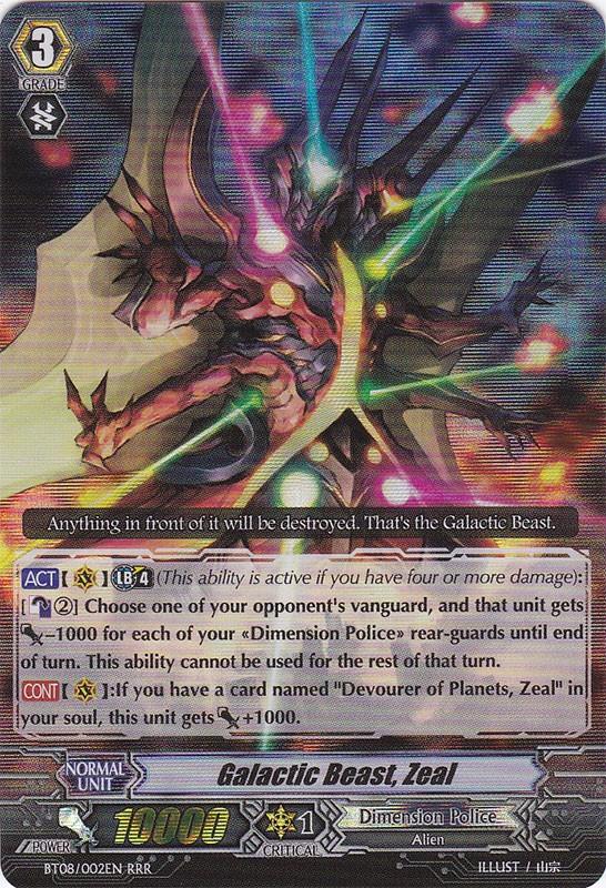 Galactic Beast, Zeal