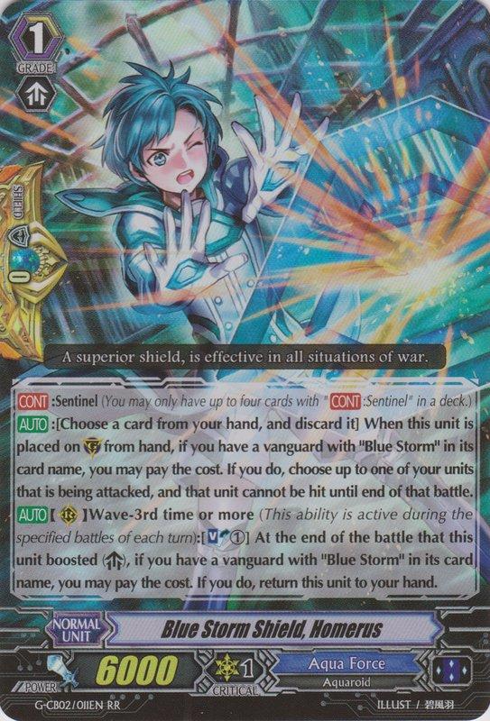 Card Errata:Blue Storm Shield, Homerus