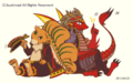 Brawler, Green Gem Carbuncle and Starring Dracokid (Extra)