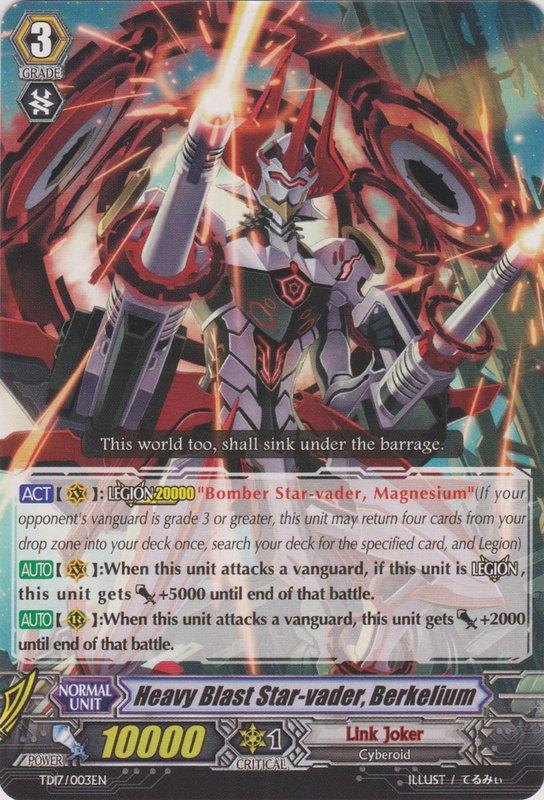 Heavy Blast Star-vader, Berkelium