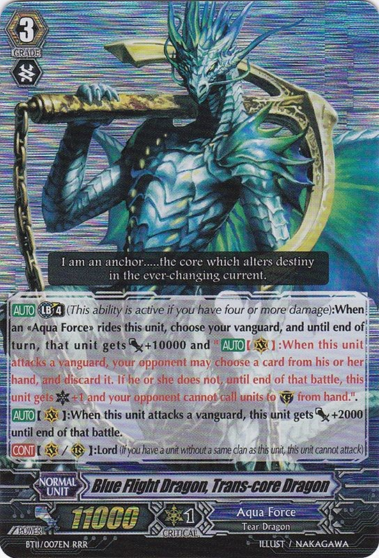 Blue Flight Dragon, Trans-core Dragon