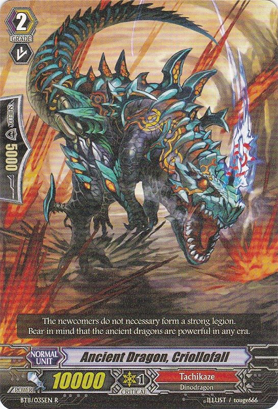 Ancient Dragon, Criollofall