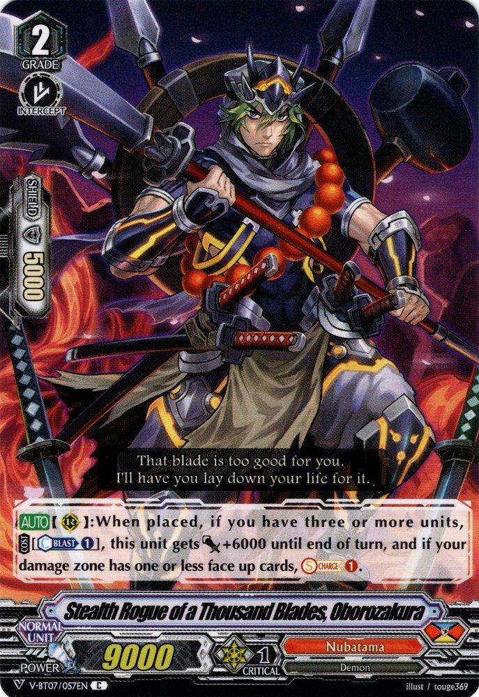 Oborozakura V-BT07//057EN C Cardfight! V Stealth Rogue of a Thousand Blades