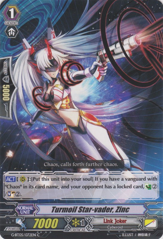 Turmoil Star-vader, Zinc