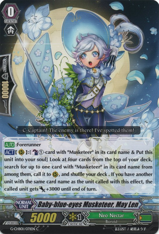 Baby-blue-eyes Musketeer, May Len