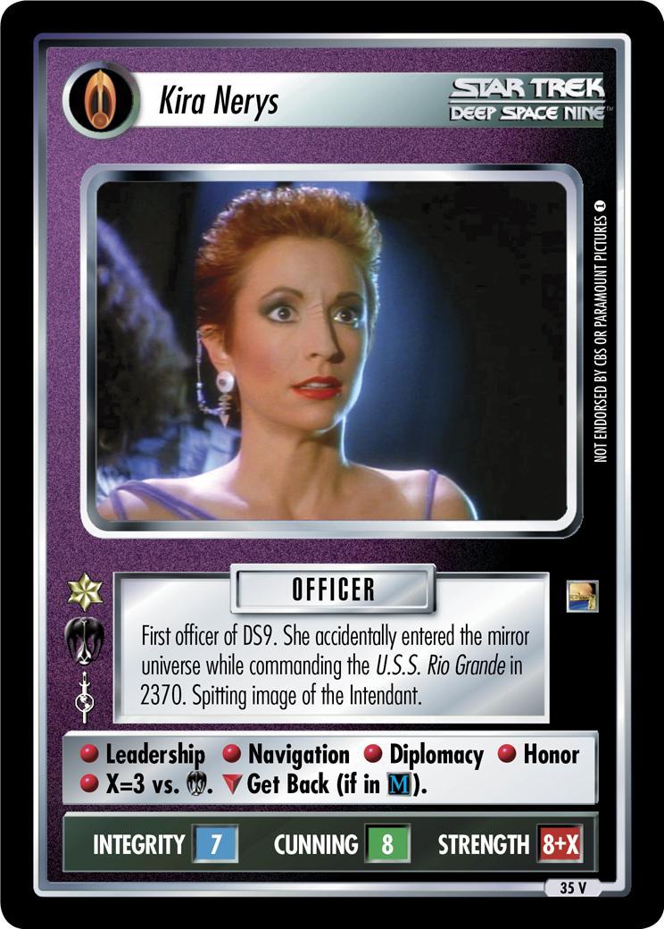 Star Trek CCG DS9 RAX/'NA x3