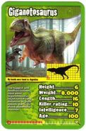 Toptrumps dinosaurs giganotosaurus