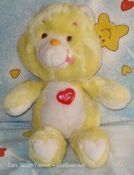 I Love You Bear Plastic Heart Version