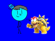 Bowser sees Fearless Stickman and got confused