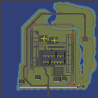 The level's map.