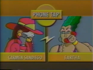 Carmen Sandiego talks to Eartha Brute