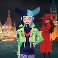 Carmen Sandiego 2019 - Carmen and Paper Star
