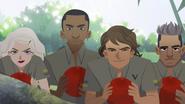Becoming Carmen Sandiego - 4 trainees looking