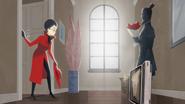 Carmen leaves stolen goods (and roses) on Julia's doorstep