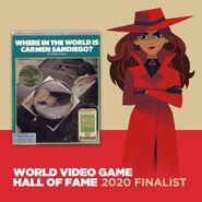 Carmen Sandiego 2019 World Video Game Hall of Fame 2020 Finalist