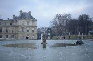 Van der Ecke Pond frozen