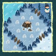Snowman body location