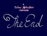 Color Melodies Cartoon Closing Card 1944-1945