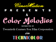 Color Melodies Cartoon Logo 1943-1945