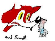 The Foxy Rabbit (1944) cel production 1